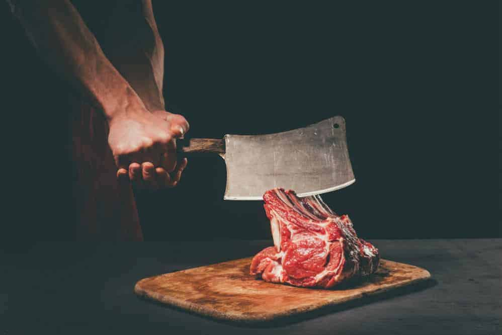 Spevorix Stainless Steel Meat Cleaver and Butcher Knife